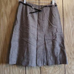 💙NWT tags tan and brown midi skirt